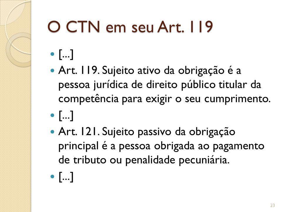 O CTN em seu Art. 119 [...]